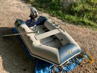Zodiac C240 inflatable dingy boat working outboard motor dinghy tender