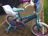 """Disney Frozen Kids Bike 14"""""""