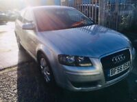 AUDI A3 1.9 TDI SPECIAL EDITION 3 DOORS DIESEL MANUAL SILVER PRIVACY GLASS
