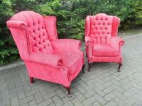King & Queen Wingback Armchairs