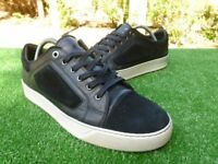 Luxurious Lanvin cap mens calf skin trainers, black 43 / uk9, rrp £320