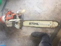 Stihl petrol chainsaw