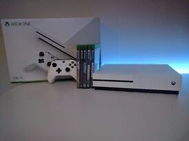 1TB White Xbox One S and Games