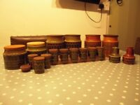 Hornsea Pottery, Heirloom, Bronte design, Tea, Coffee, Sugar, Salt, Spicerack & Vinegar/oil jars.
