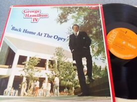 George Hamilton IV ‎– Back Home At The Opry RCA Victor ‎– PL 10192 Autographed LP