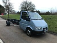 1995 ford transit 190 LWB chassis cab, long mot, perfect recovery