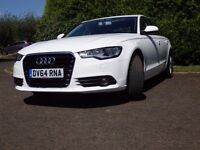Audi A6 2014 White Automatic 2.0 litre Ultra engine all leather with sat nav