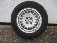 "bmw 14"" alloy wheel with good tyre"