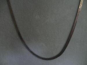 "LONG FINE OLD VINTAGE 24"" SILVERTONE CLOSED-LINK CHAIN NECKLACE"