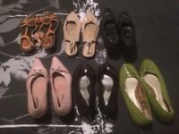 6 pairs ladies shoes hardly worn size 8