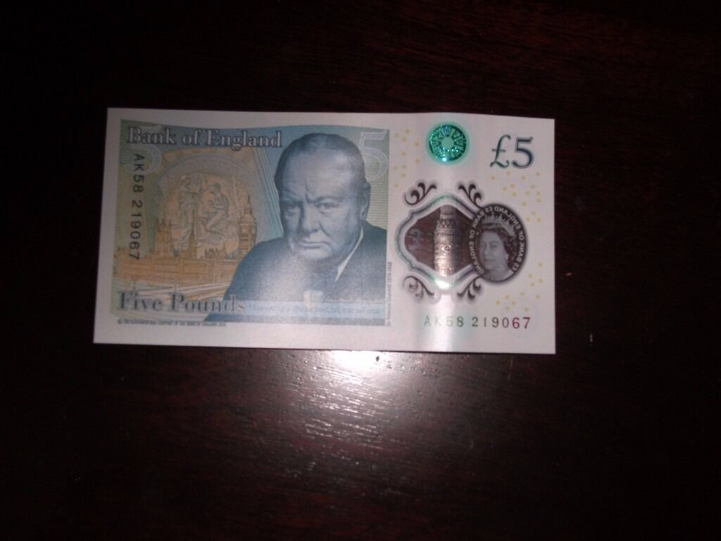New Style Early 5 Pound Note