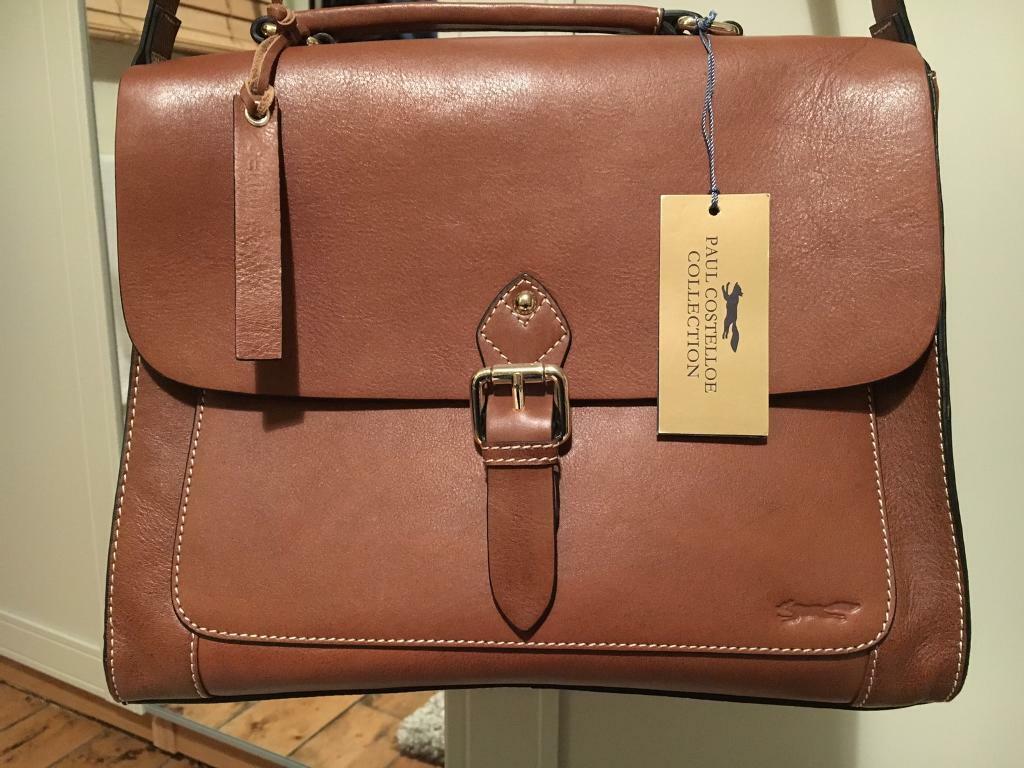e87cdfad25fa Paul Costelloe tan leather satchel