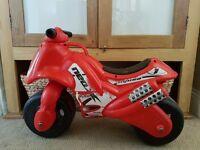 Baby/ toddler/ child ride on red motorbike