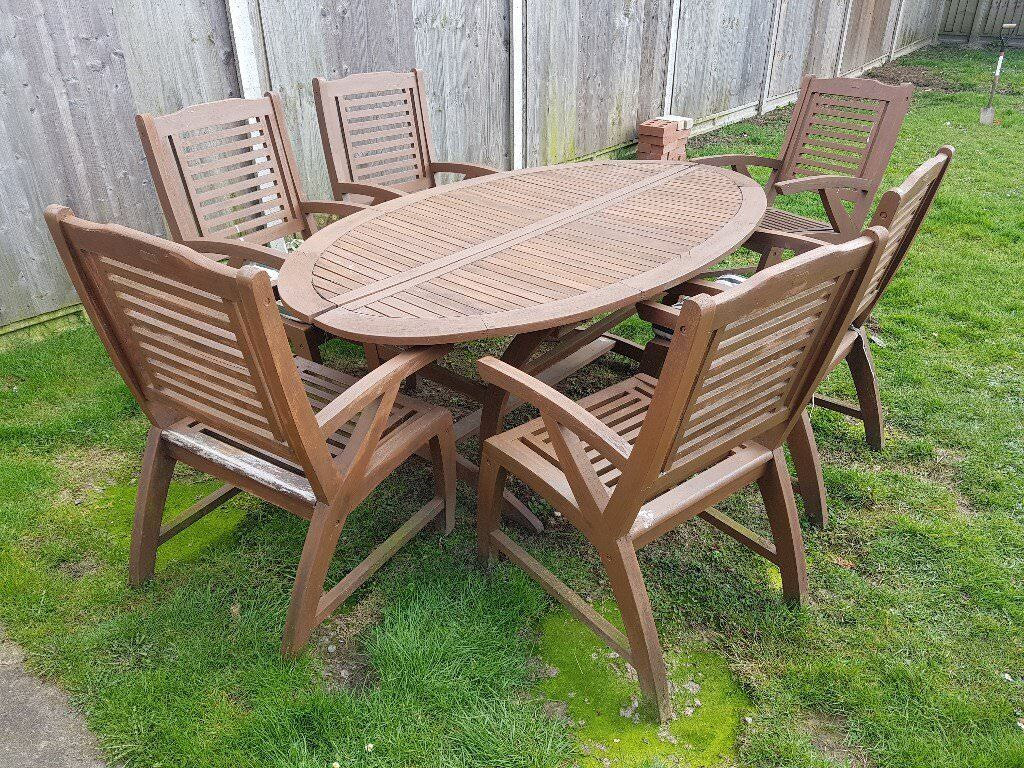 Very Garden Furniture Very heavy land of leather garden furniture patio set with 6 very heavy land of leather garden furniture patio set with 6 chairs and parsol workwithnaturefo