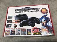 Sega Mega Drive Classic Game Console with 80 Built-In Games & 2x wireless controllers