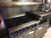 Imperial 6 Burner Commercial Gas Double Oven