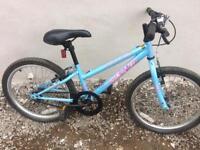 Girls blue apollo bike