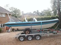 Boat and trailer transport launch and recovery Thames Windsor Hampton South