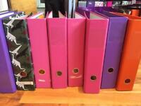 Paperchase / Ryman's / etc lever arch binders and ring binders
