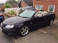 SAAB 9-3 VECTOR 1.9ltr, 2006, Black, Leather Interior, High mileage with FSH. Many new parts.