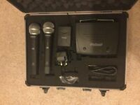 UHF Twin Handheld and Body Pack Mic Kit - Dual Channel Fixed Frequency