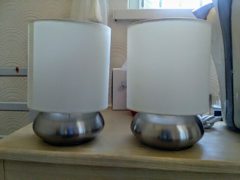 Pair Of Dimmable Bedside Lamps