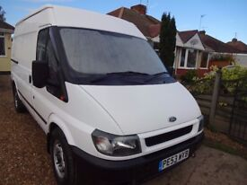 FORD TRANSIT MWB HIGH ROOF. GENUINE 58000 MILES. ONE OWNER. 12 MONTHS MOT.