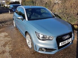 Audi A1 1.6 TDI S Line 3dr Manual Sphere Blue 52K Immaculate condition.