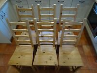 SET OF 6 IKEA KAUSTBY DINING CHAIRS.
