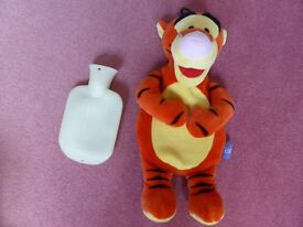 Lovely cute Tiger soft toy hot water bottle cover and hot water bottle