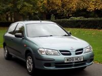 2002 NISSAN ALMERA, E ,MODEL 3 DOOR HATCHBACK CHEAP AND RELIABLE GREAT RUNNER MOT JUNE 2018 BARGAIN