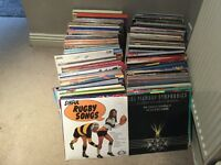Approx. 350 easy listening LP's. Nice collection with 6 LP carry cases.
