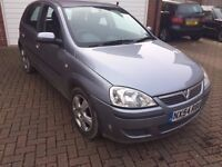 Vauxhall Corsa 2004, 1.2 Litre Petrol, 63k miles, MOTed 10/2017, manual, Alloys
