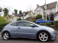 12 MONTH WARRANTY! (2007) HONDA CIVIC TYPE-S GT i-VTEC 3dr PAN ROOF- GT SPEC- GENUINE 60k MILES- FSH