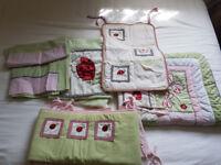 5 Piece Nursery/Childrens Quilt/Sheet/Blanket Bedding Bundle