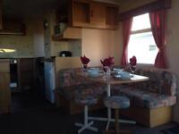 CARAVAN TO RENT ON THE NORTH EAST COAST OF ENGLAND, NEWBIGGIN BY THE SEA, NORTHUMBERLAND.