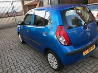 Hyhundai i10 low mileage blue long mot £2199