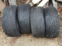 4x Pirelli 255/45 R17 91H tyres second hand
