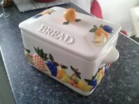 RAYWARE COUNTRY KITCHEN BREADBIN - RAISED FRUITS DESIGN - £20 ONO