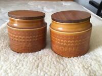 Hornsea saffron tea and coffee jars