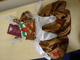 CHRISTMAS PUDDING DRESS WITH HAT - AGE 1/2 - NEW WITH TAGS