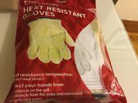 Fireside accessories heat resistant gloves