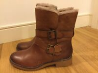 Gorgeous ladies brown leather boots- size 7, EUR 40.5