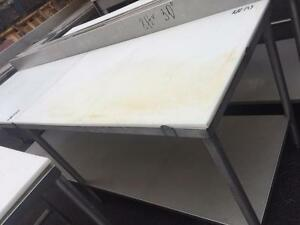 Butcher stainless steel tables