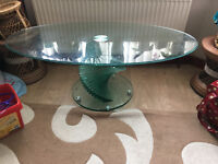 The Spirello Clear Glass Coffee Table