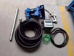 NEW DIESEL GAS FUEL TRANSFER PUMP WITH GAUGE 20 GPM 12 V TANK FARM TUCK
