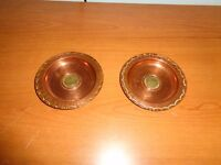2x Antique decorative copper trays