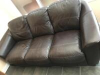 Chocolate brown sofa