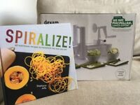 Dexam spiraliser as new, unwanted gift, with recipe and ideas book., still boxed.