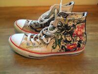 Size 7 Superman converse boots